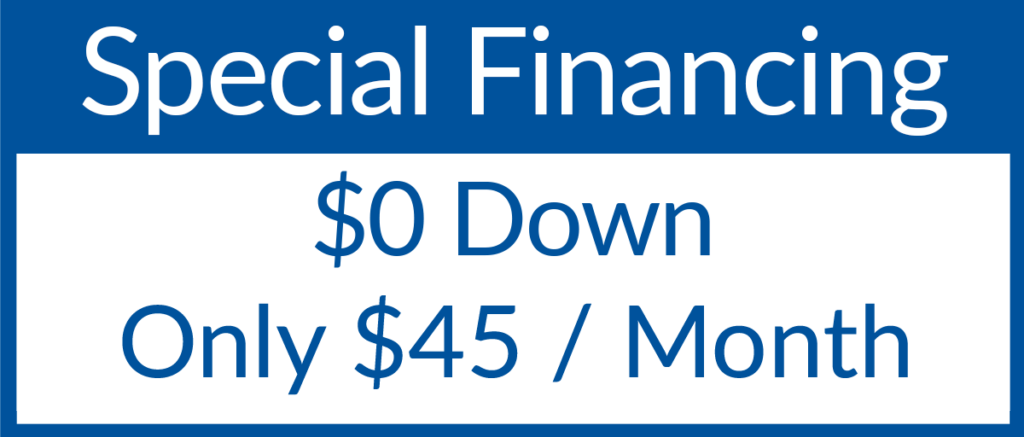 Special Financing! Only $45 a Month